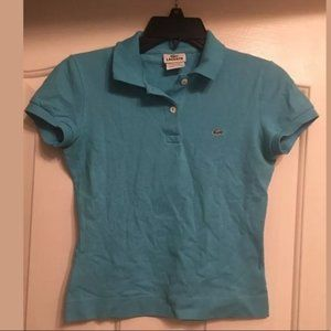 Lacoste solid blue polo shirt